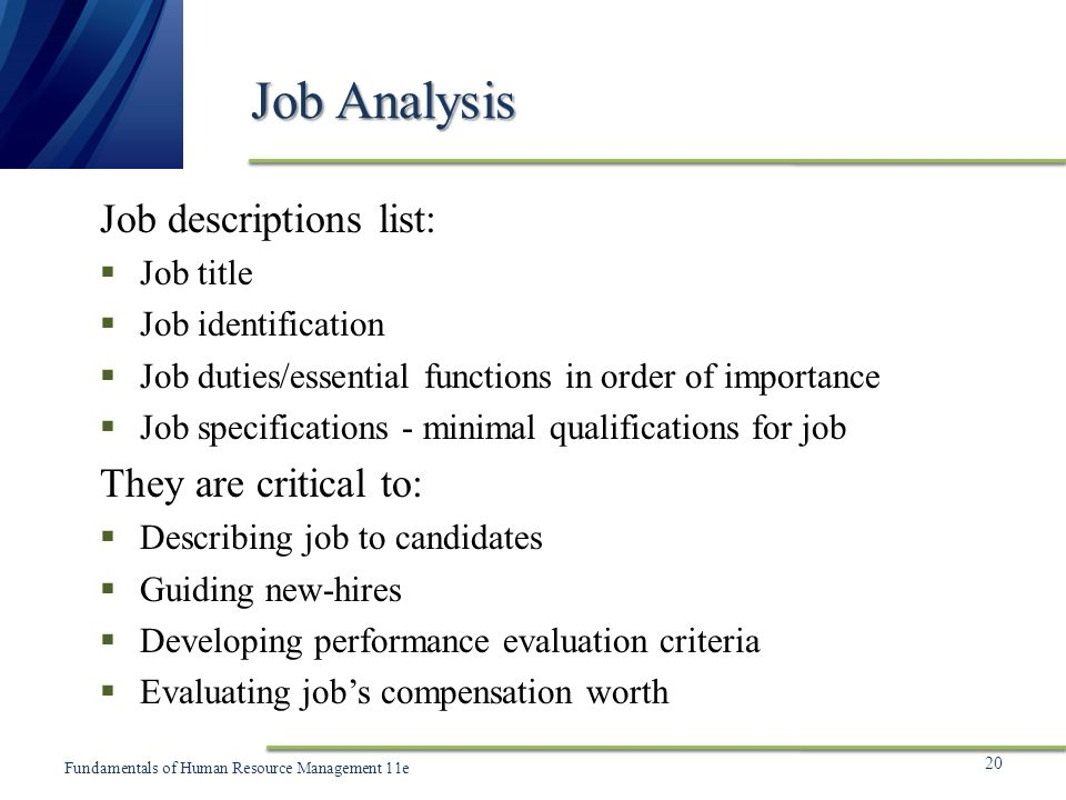 Chapter  Human Resource Planning And Job Analysis  Ppt Video