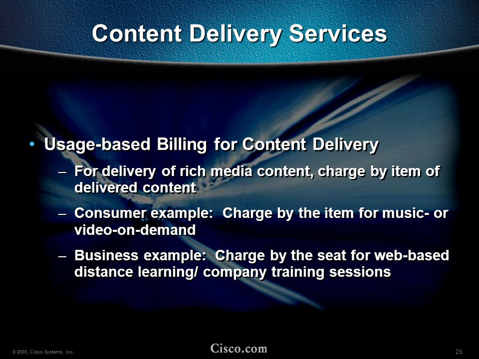 Content Delivery Services