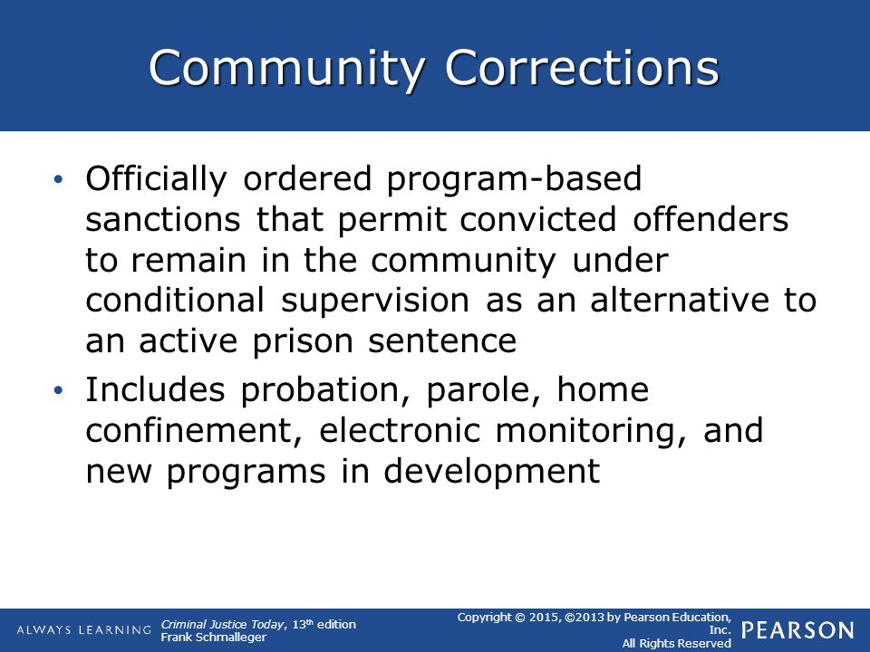 community based corrections viable alternative to incarceration This research conducted a case study of a community-based program in the midwest to determine whether community corrections alternatives to incarceration were more cost-effective than prisons and jails and achieved the goal of reducing overcrowding in custodial facilities.