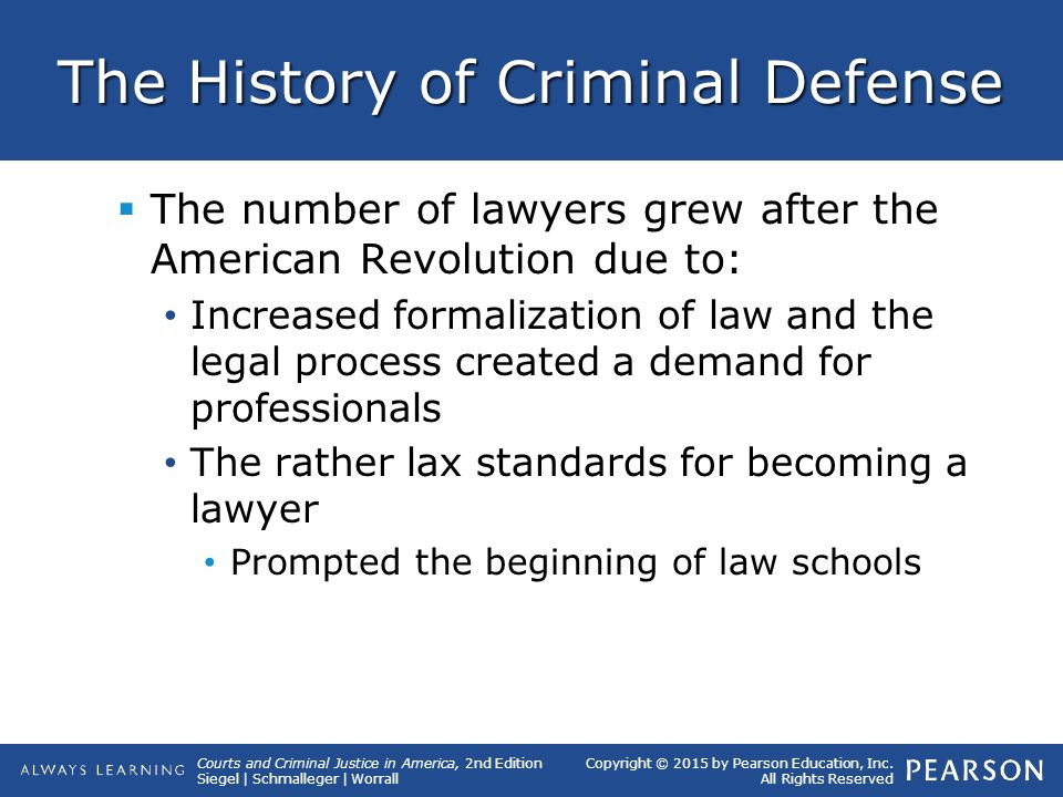 origins of american criminal law Our modern american law system is based on centuries of english principles regarding right and wrong this english common law system combines with.