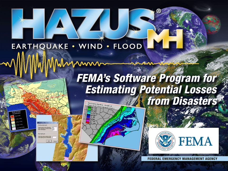 HAZUS-MH is a multi-hazard risk assessment and loss estimation software  program developed by the Federal Emergency Management Agency (FEMA)   (animate on