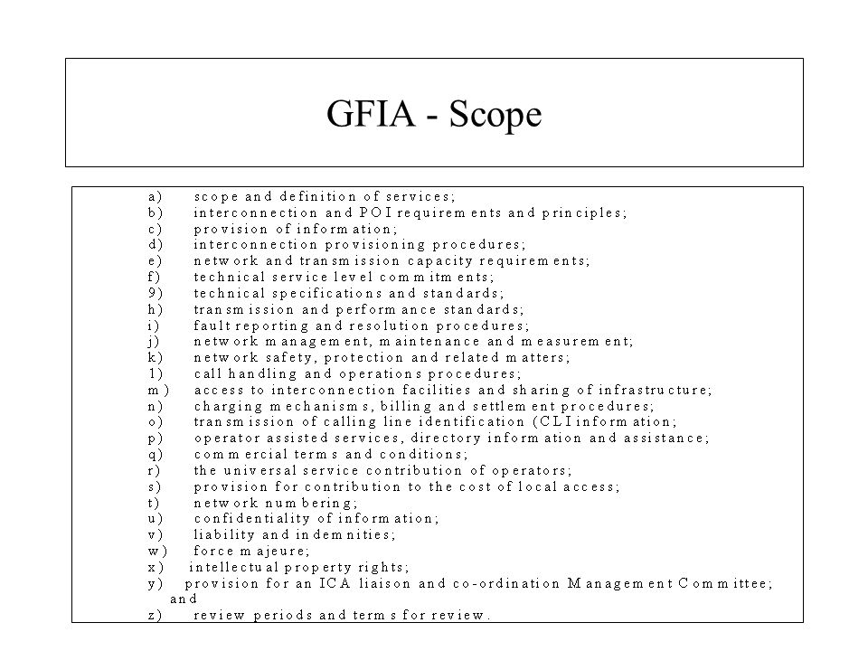 GFIA - Scope