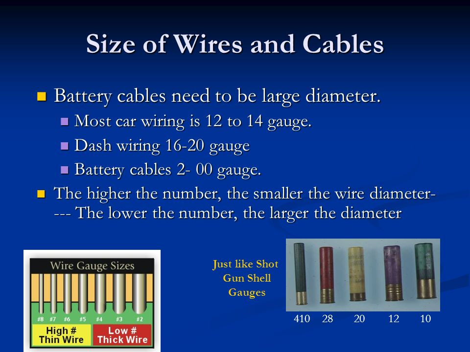Cute Battery Cable Wire Size Photos - Electrical and Wiring ...