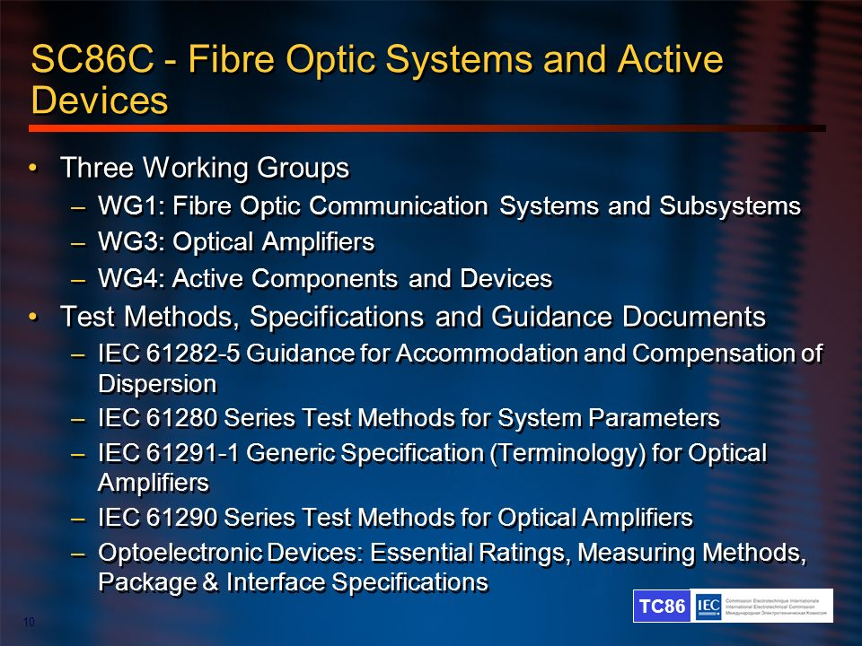 SC86C - Fibre Optic Systems and Active Devices