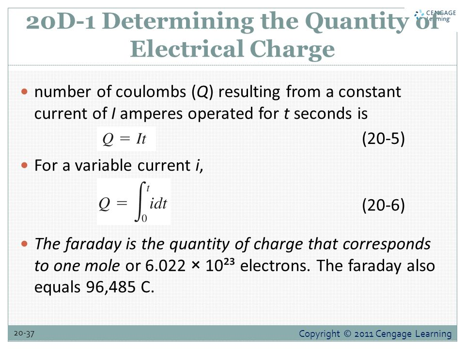 how to get faradays from mole of electrons
