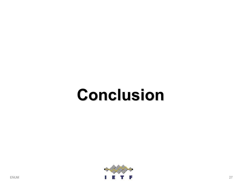 Conclusion ENUM 27