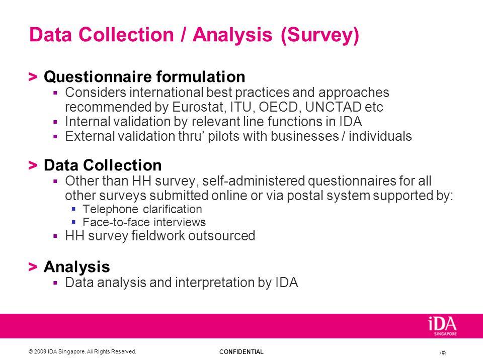 Data Collection / Analysis (Survey)