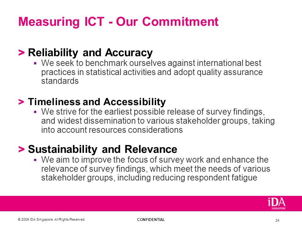 Measuring ICT - Our Commitment