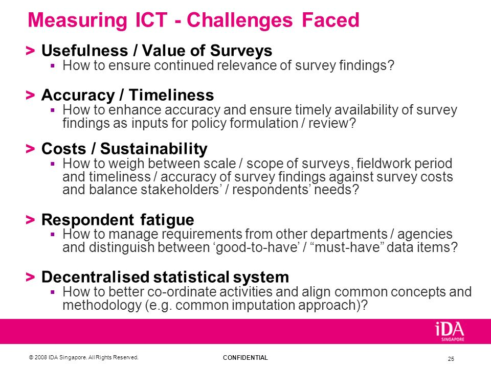 Measuring ICT - Challenges Faced