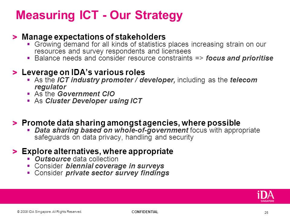 Measuring ICT - Our Strategy
