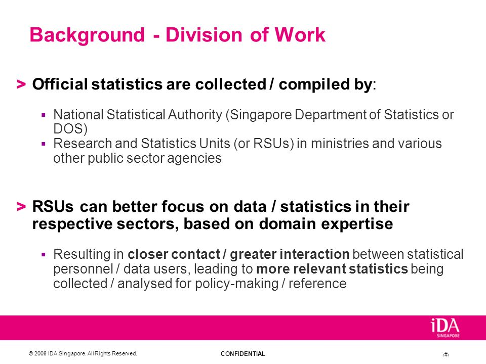 Background - Division of Work