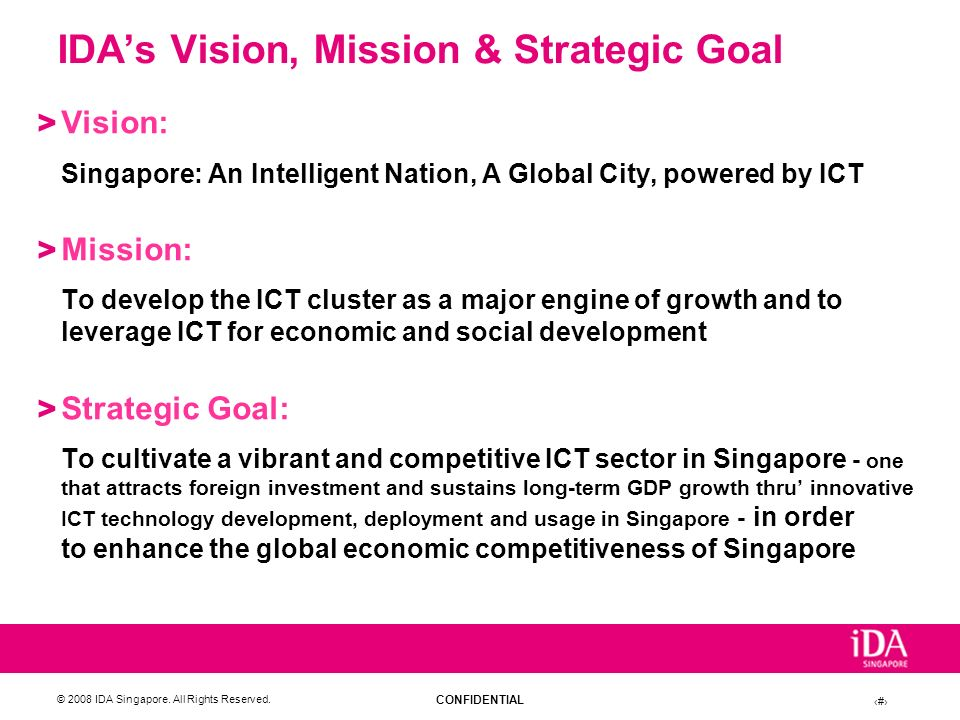 IDA's Vision, Mission & Strategic Goal
