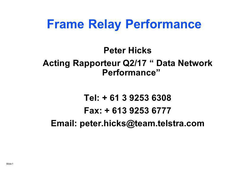 Frame Relay Performance