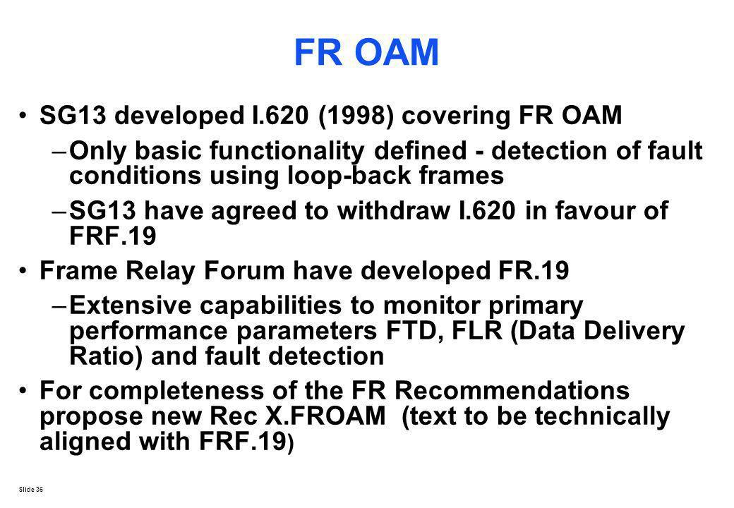 FR OAM SG13 developed I.620 (1998) covering FR OAM