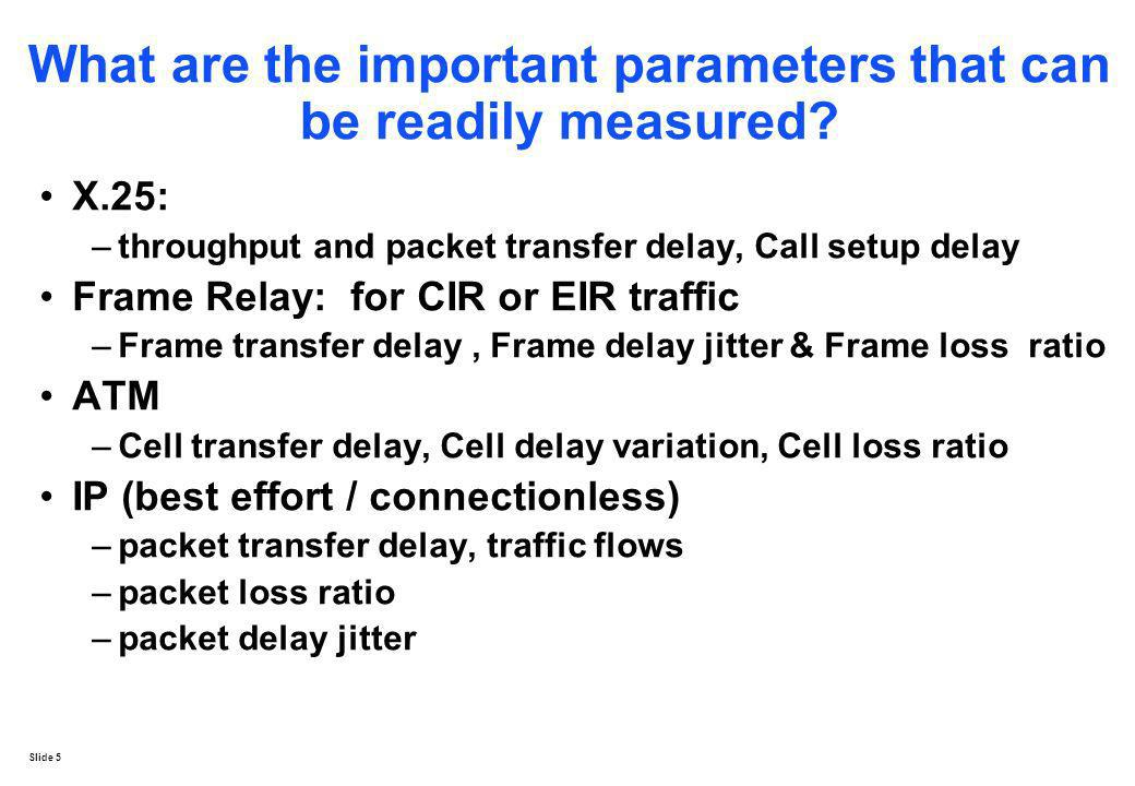 What are the important parameters that can be readily measured