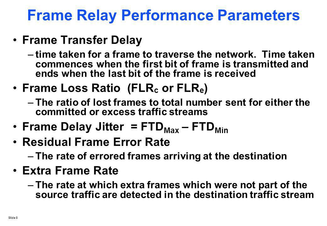 Frame Relay Performance Parameters