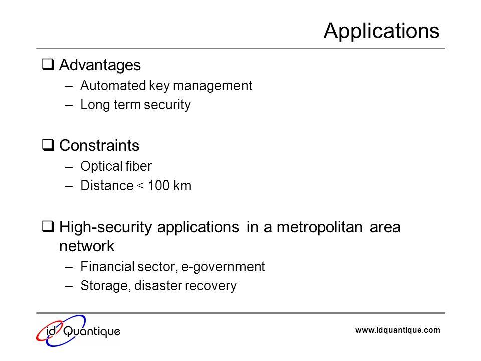 Applications Advantages Constraints