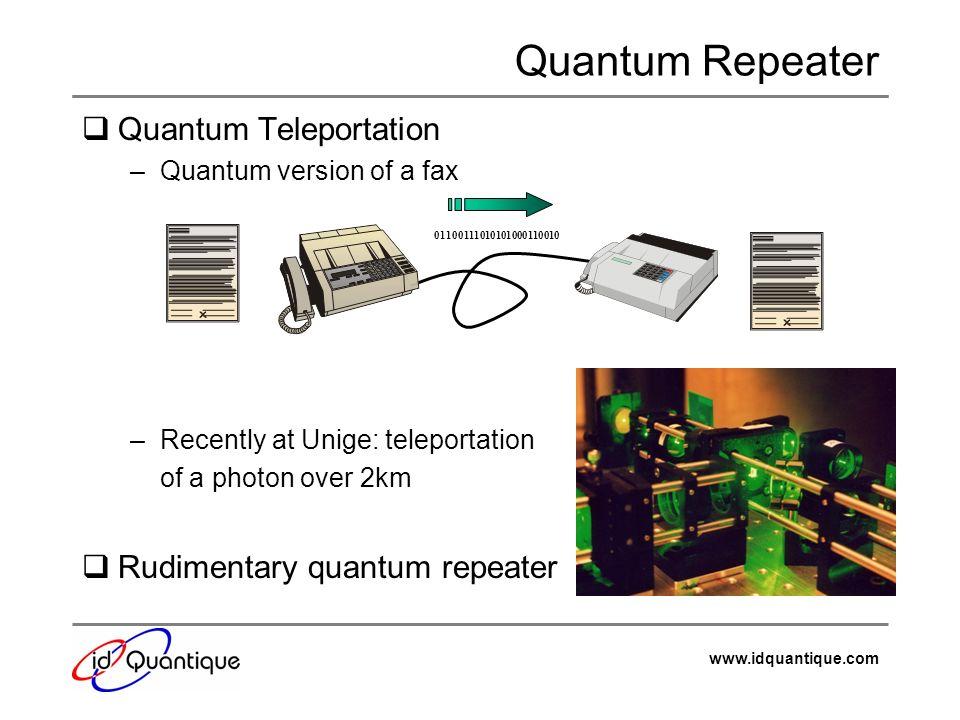 Quantum Repeater Quantum Teleportation Rudimentary quantum repeater