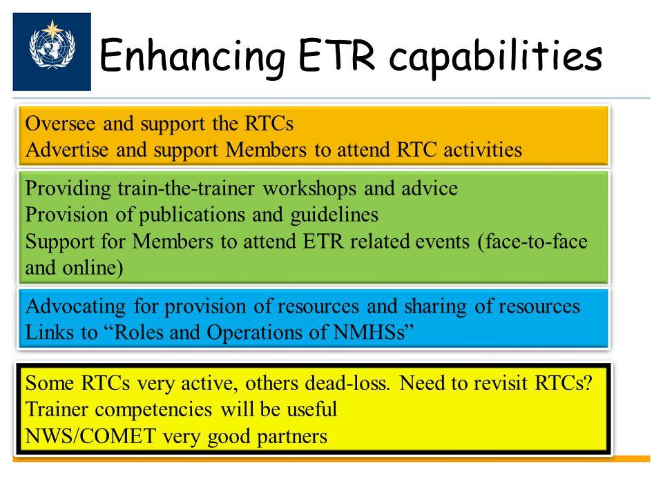 Enhancing ETR capabilities