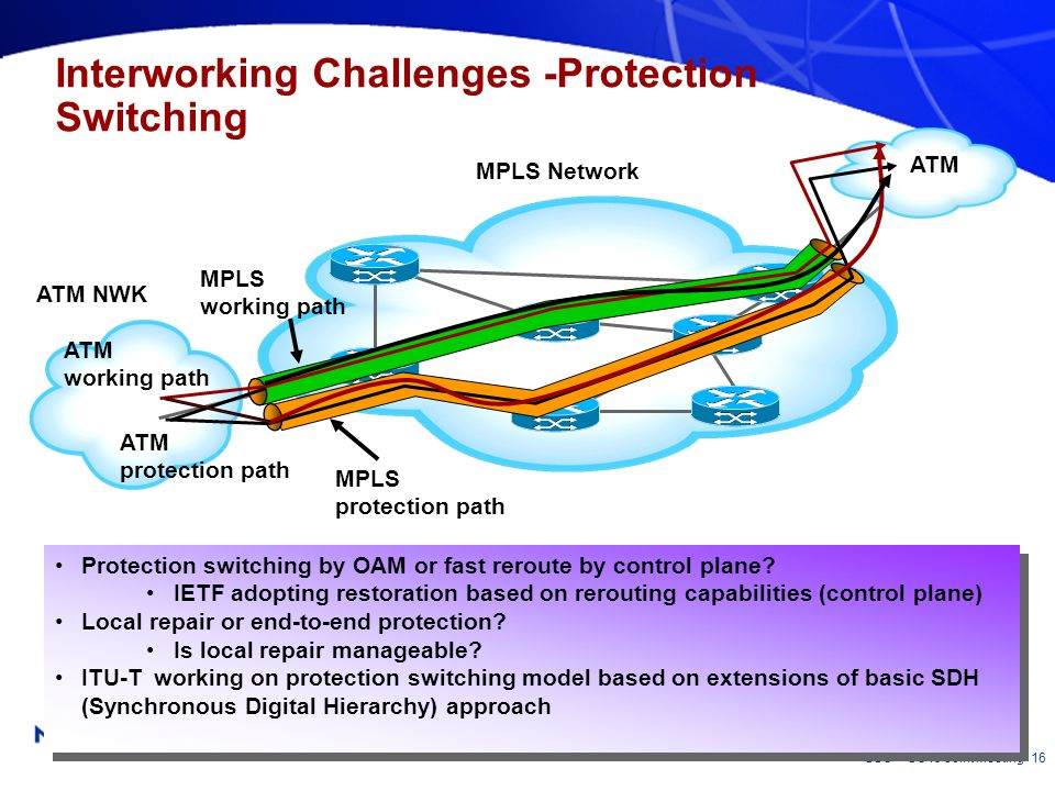 Interworking Challenges -Protection Switching