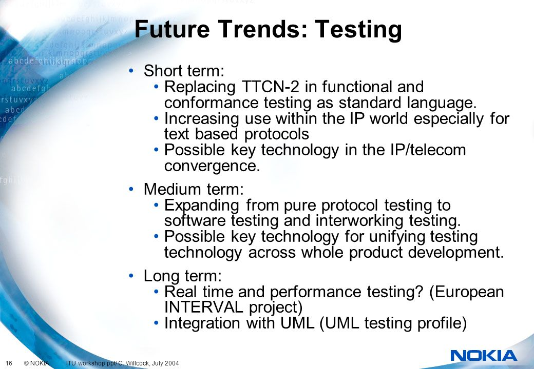 Future Trends: Testing