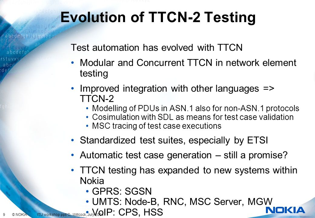 Evolution of TTCN-2 Testing