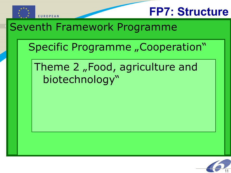 FP7: Structure Seventh Framework Programme