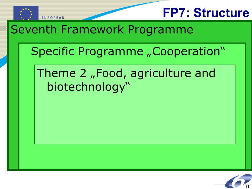 FP7: Structure Seventh Framework Programme
