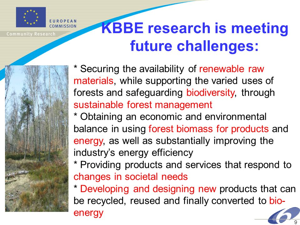 KBBE research is meeting future challenges: