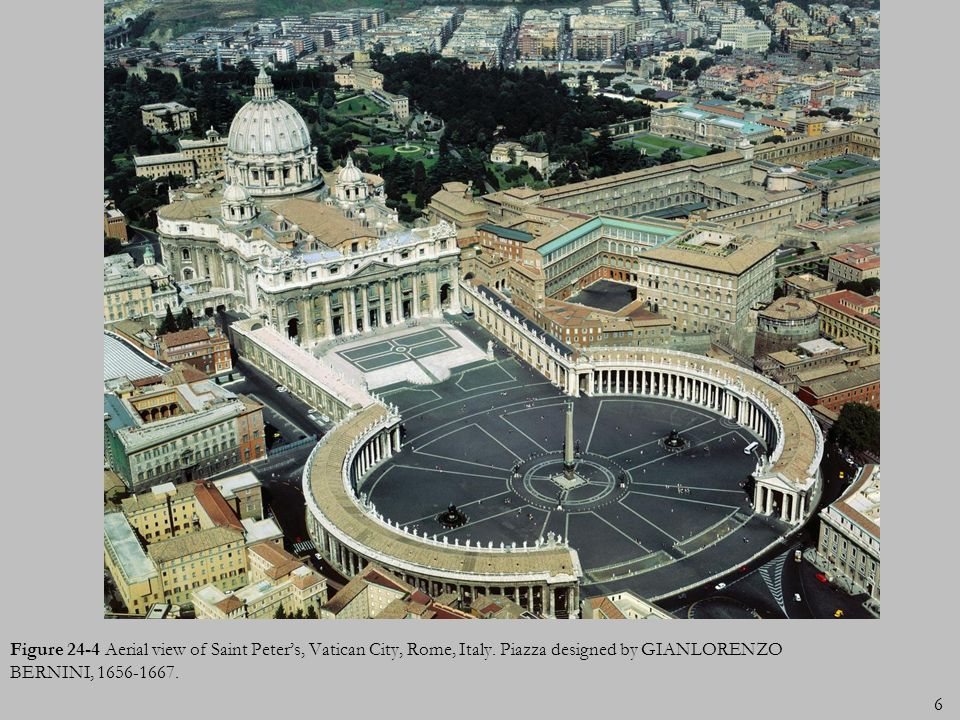 Figure 24-4 Aerial view of Saint Peter's, Vatican City, Rome, Italy