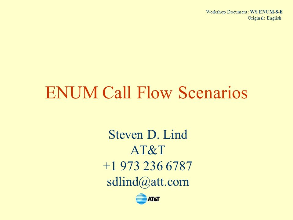 ENUM Call Flow Scenarios