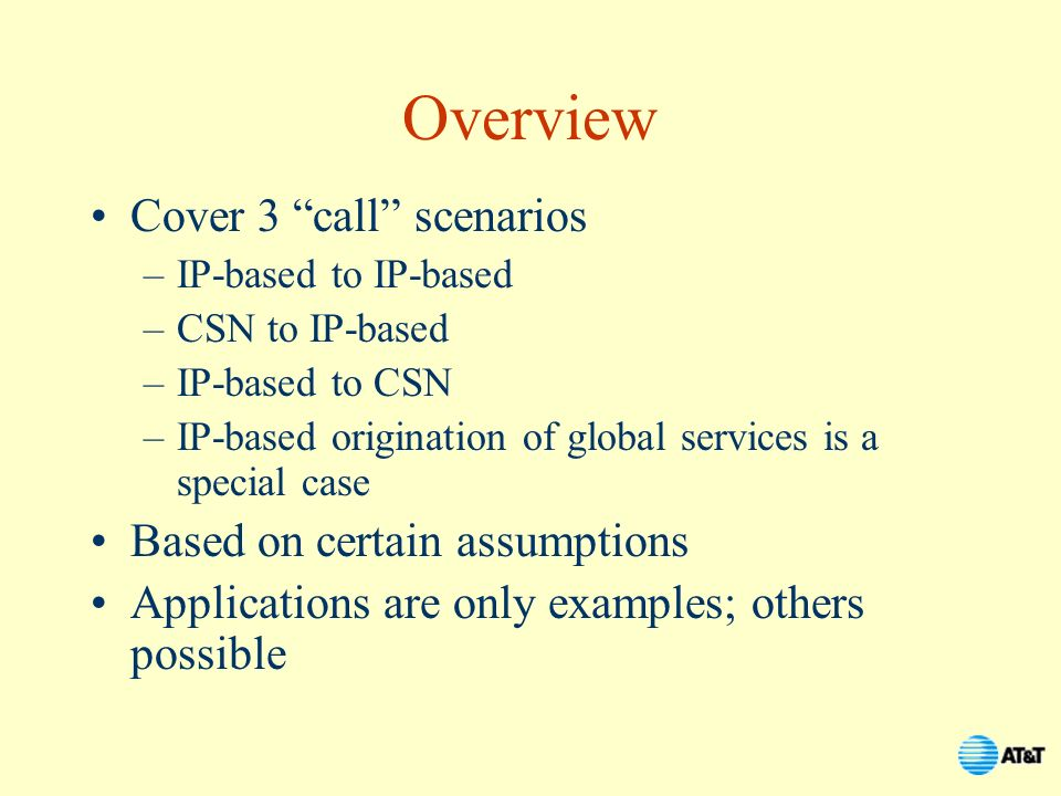 Overview Cover 3 call scenarios Based on certain assumptions