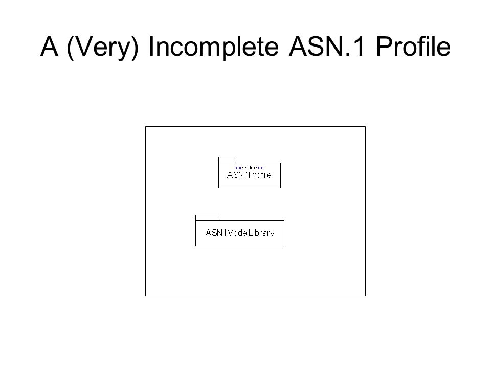 A (Very) Incomplete ASN.1 Profile