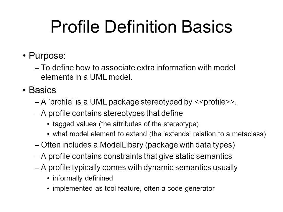 Profile Definition Basics