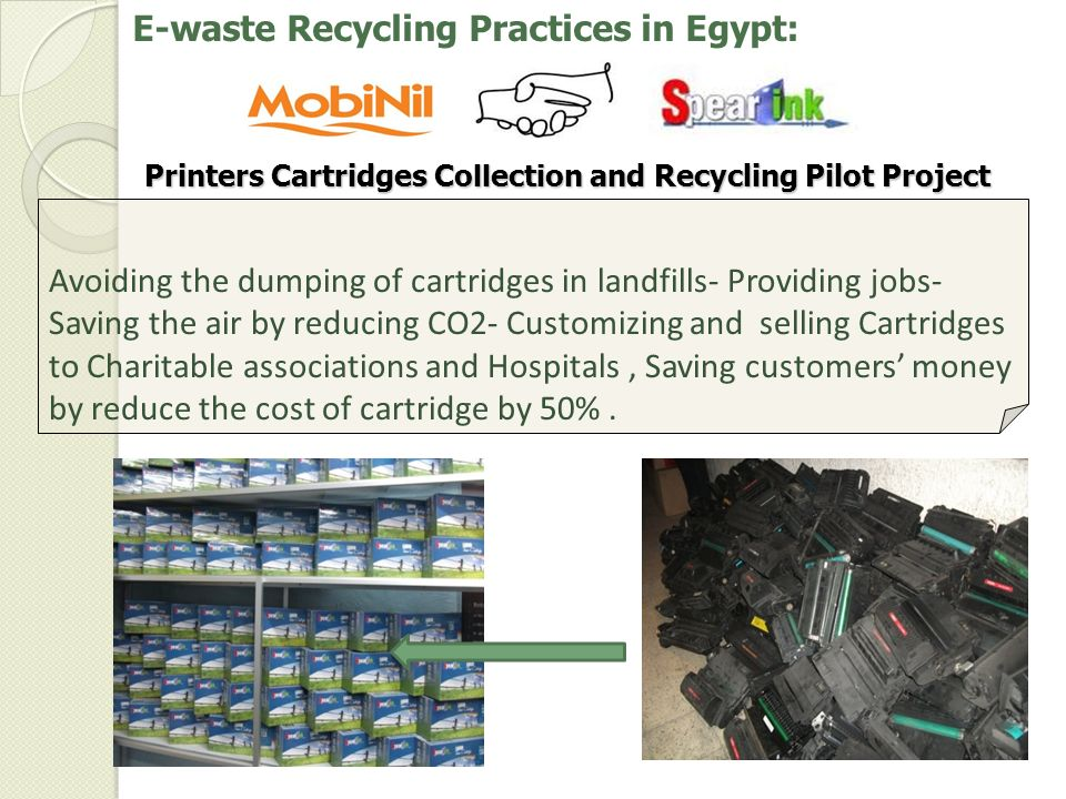 Printers Cartridges Collection and Recycling Pilot Project