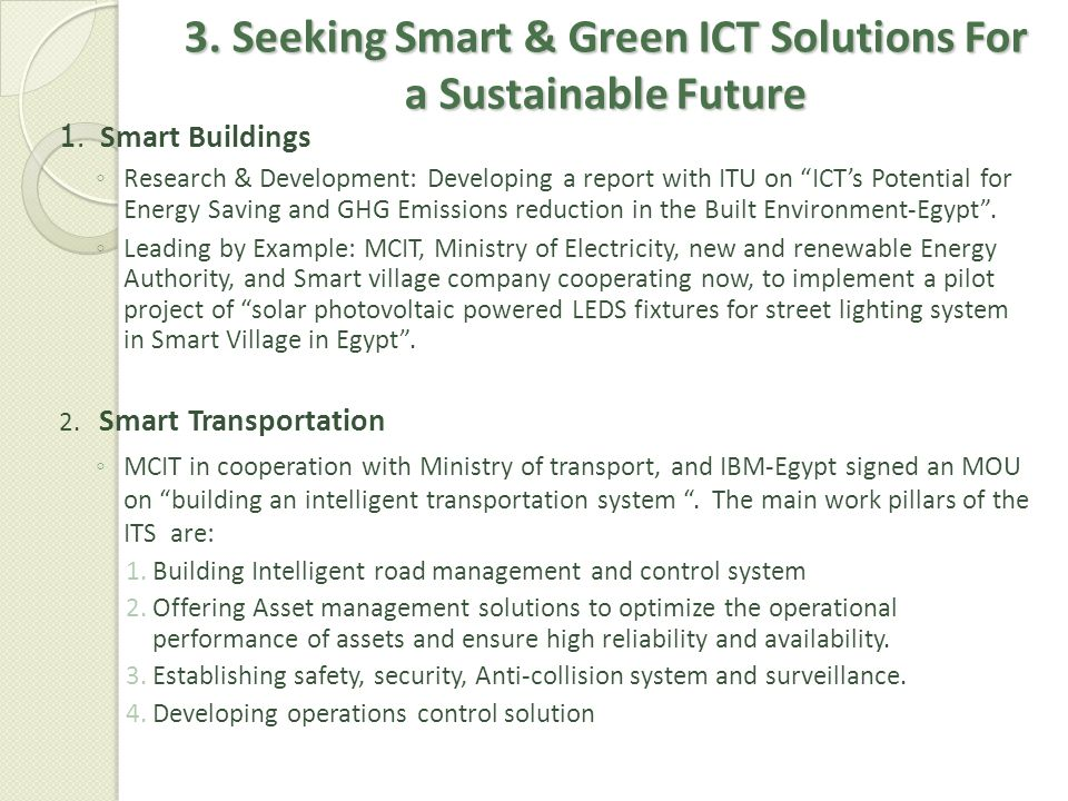 3. Seeking Smart & Green ICT Solutions For a Sustainable Future