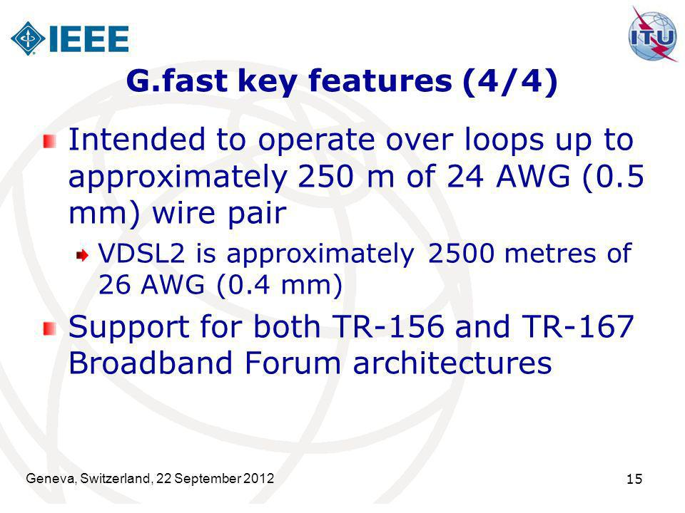 Support for both TR-156 and TR-167 Broadband Forum architectures