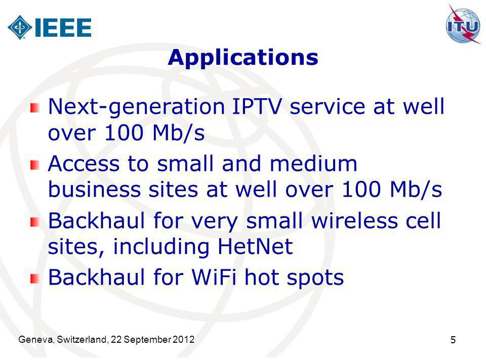 Next-generation IPTV service at well over 100 Mb/s