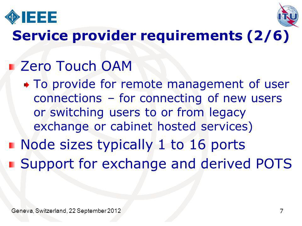 Service provider requirements (2/6)