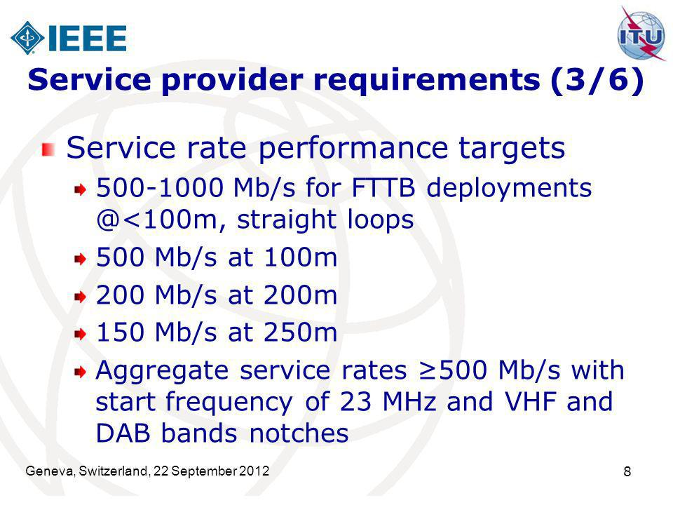 Service provider requirements (3/6)