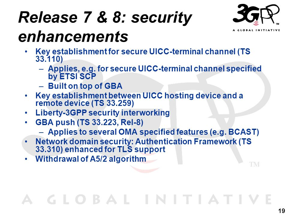 Release 7 & 8: security enhancements