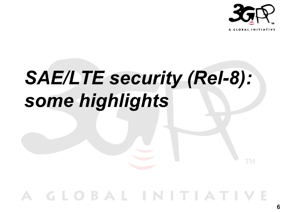 SAE/LTE security (Rel-8): some highlights