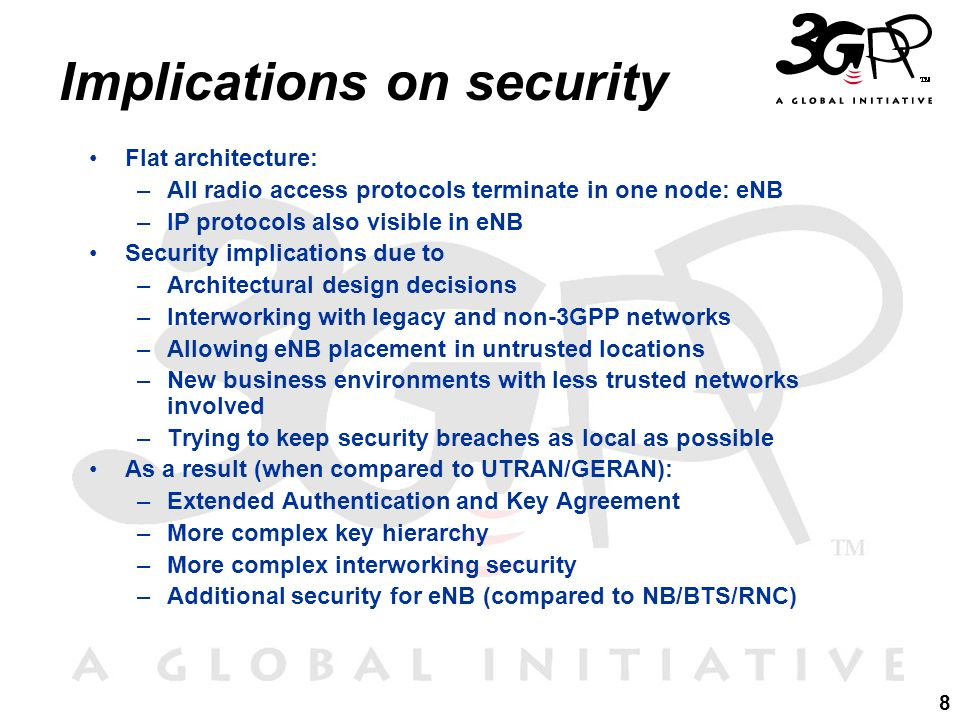 Implications on security