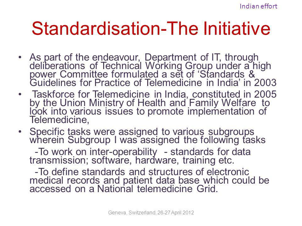 Standardisation-The Initiative