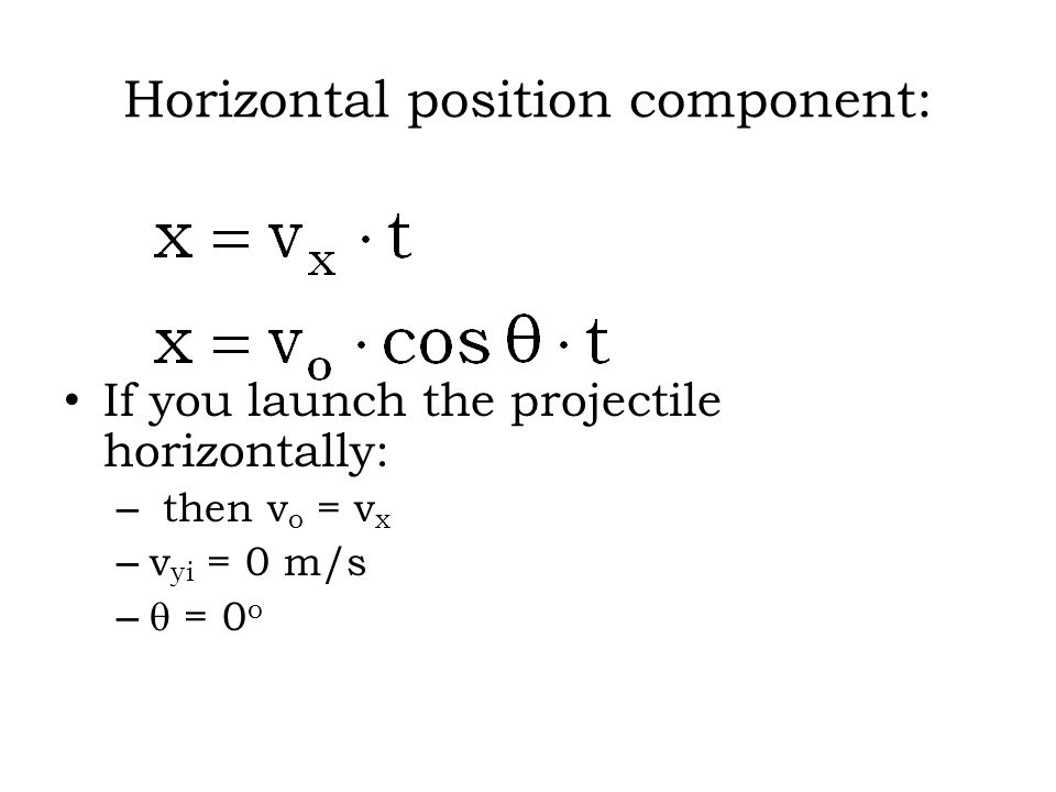 Horizontal position component: