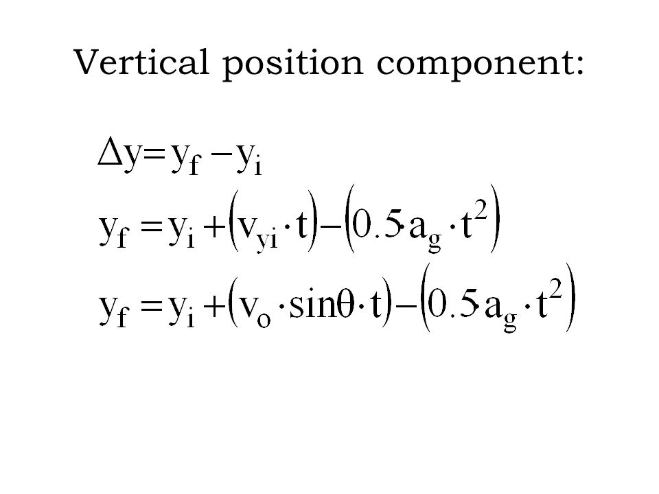 Vertical position component:
