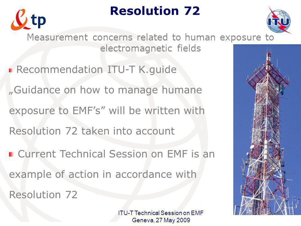ITU-T Technical Session on EMF