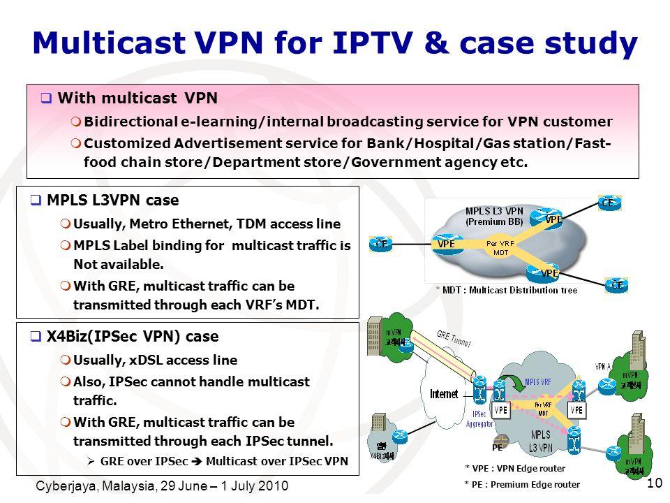 Multicast VPN for IPTV & case study
