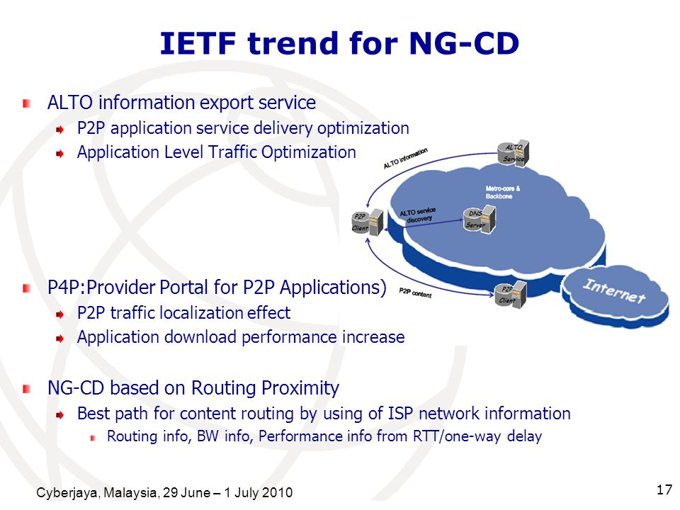 IETF trend for NG-CD ALTO information export service