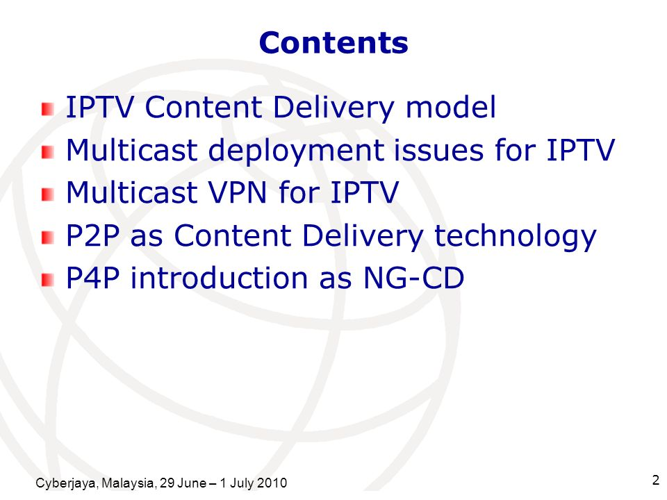 IPTV Content Delivery model Multicast deployment issues for IPTV